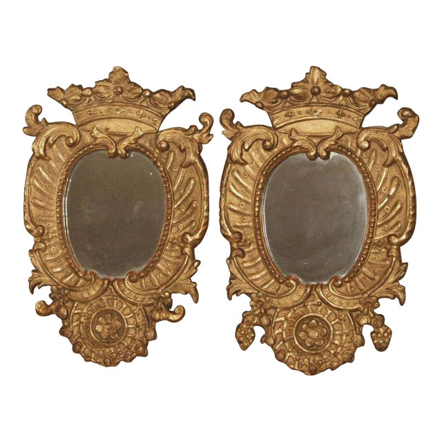 Pair of Italian Gilt Mirrors For Sale
