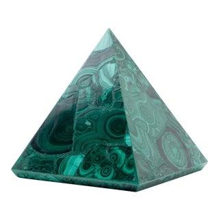 Malachite Pyramid For Sale