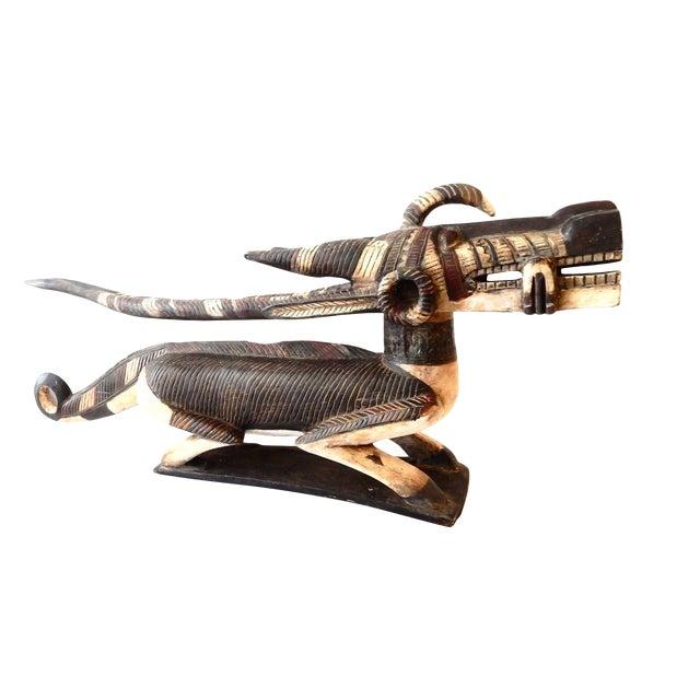 Mansion Size Bambara Chiwara Wood Sculpture For Sale