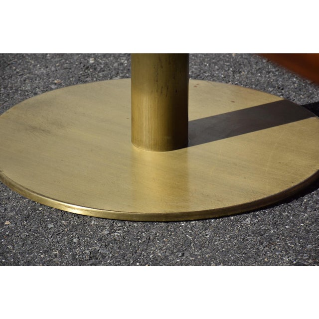 Mid-Century Modern Walnut & Brass Conference Table For Sale - Image 10 of 11