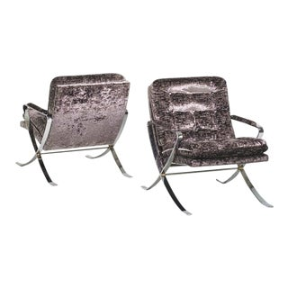 1970s Vintage Pair of Selig Lounge Chairs- A Pair For Sale