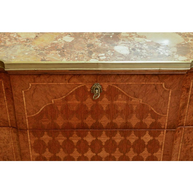 Mid 19th Century 19c. French Parquetry Secretaire / Commode For Sale - Image 5 of 10