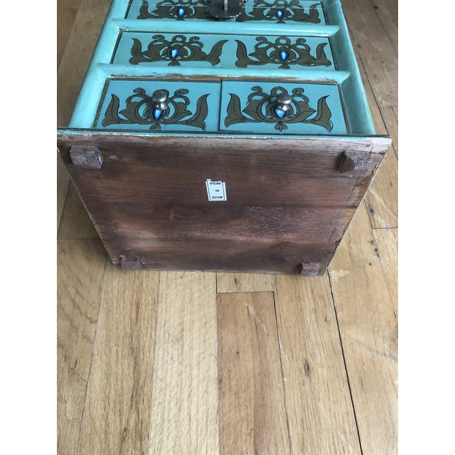 Vintage Indian Hand Painted Box For Sale - Image 11 of 13
