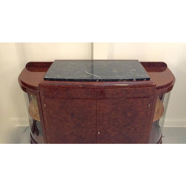 Art Deco French Art Deco Buffet with Portoro Marble Top For Sale - Image 3 of 9