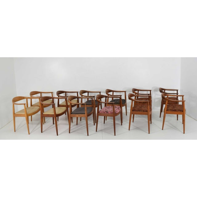 Hans Wegner Round Teak Dining Chairs - a Pair (12 Available) For Sale In Dallas - Image 6 of 10