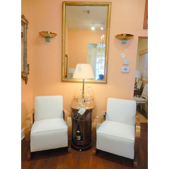 Pair of Northern European Art Deco Arm Chairs For Sale In New Orleans - Image 6 of 7