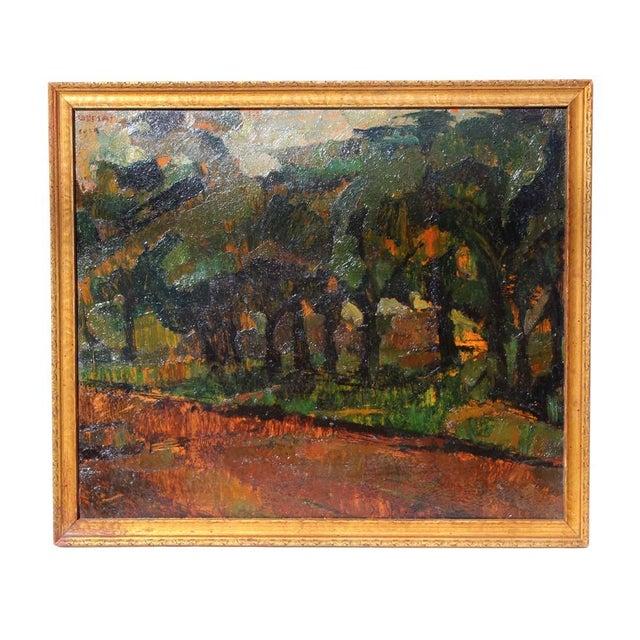 Vintage Framed Landscape Painting - Image 1 of 4