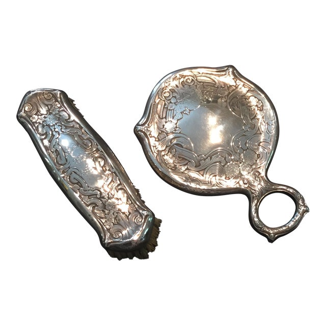 Sterling Victorian Mirror Set - Image 1 of 7