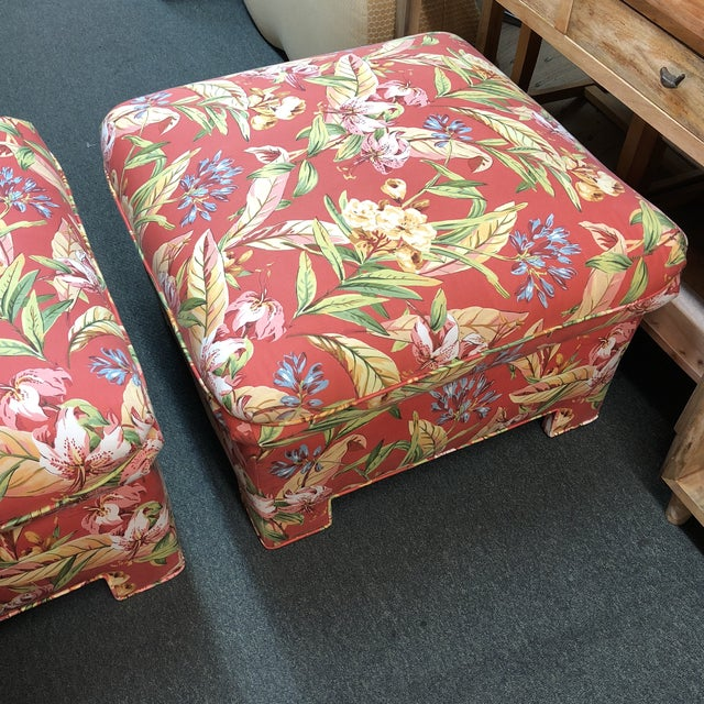 Marge Carson Ottomans - A Pair - Image 5 of 12