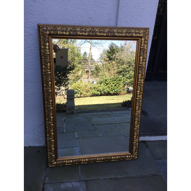 1990s Ornate Gilt Wood Mirror For Sale - Image 5 of 7