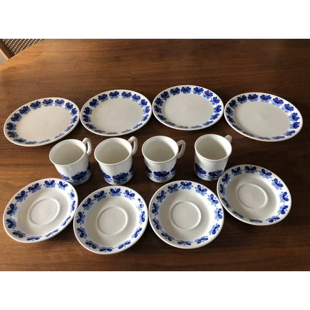 Stavangerflint by Rolf Froyland Cups, Saucers, and Small Plates - Set of 12 For Sale - Image 10 of 10