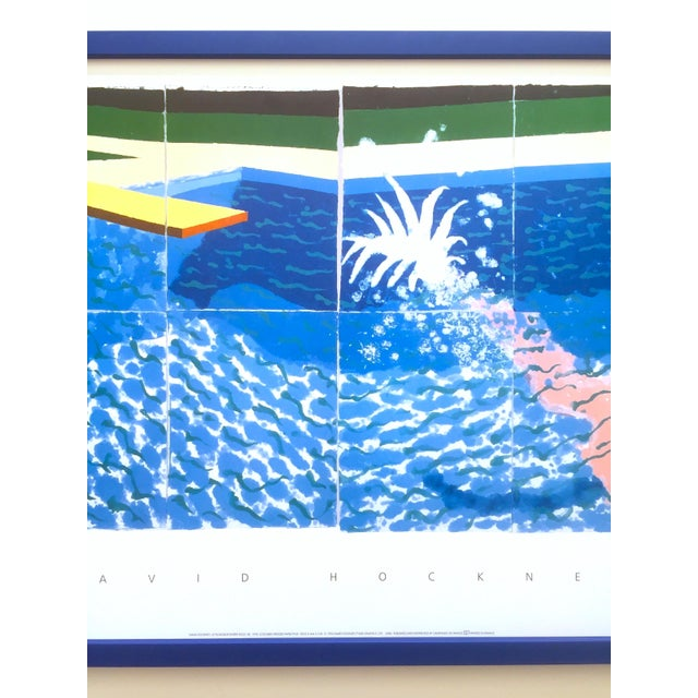"""Contemporary David Hockney Rare Vintage 1994 Iconic Lithograph Print Large Framed Poster """" Le Plongeur ( Paper Pool 18 ) """" 1978 For Sale - Image 3 of 13"""