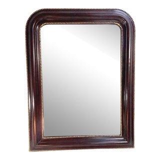 Mahogany Nailhead Style Wall Mirror