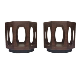 1970s Mid Century Modern Octagon End Tables - a Pair For Sale