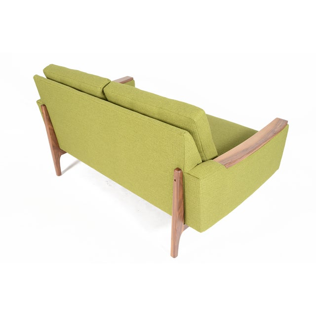 """Mid-Century Style """"Piedmont"""" Sofa in Avocado - Image 10 of 10"""
