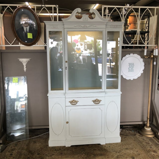 Vintage Federal Style China Cabinet For Sale - Image 11 of 11