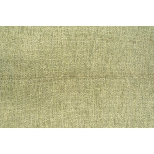 1950s Scandinavian Flatweave Rollaken Rug, Open Green Field For Sale - Image 5 of 8