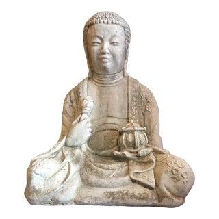 Antique Stone Medicine Buddha Statue For Sale