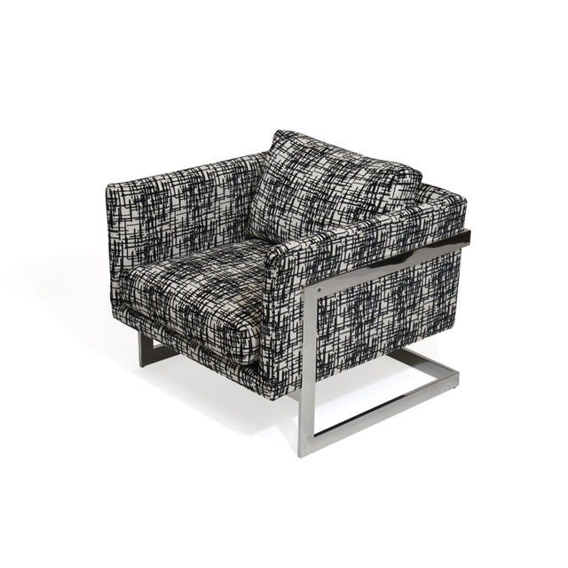 Milo Baughman for Thayer Coggin Chrome Lounge Chair For Sale In San Francisco - Image 6 of 10