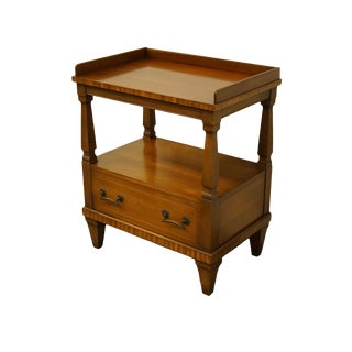 Italian Drexel Heritage Solid Cherry Accent End Table For Sale