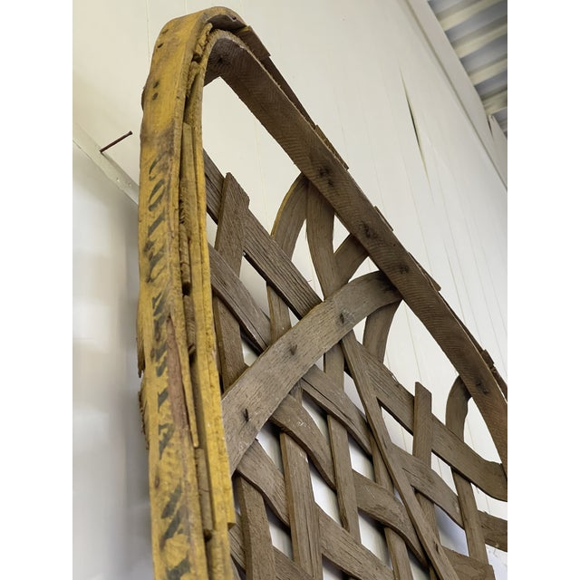 Large Authentic Antique Tobacco Basket For Sale - Image 10 of 12