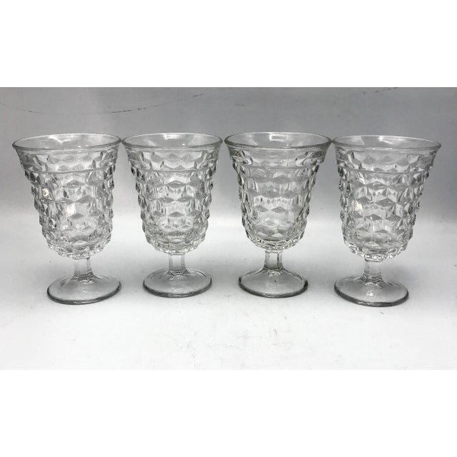 Early 20th Century Fosteria American Crystal Clear Goblets - Set of 4 For Sale - Image 5 of 7