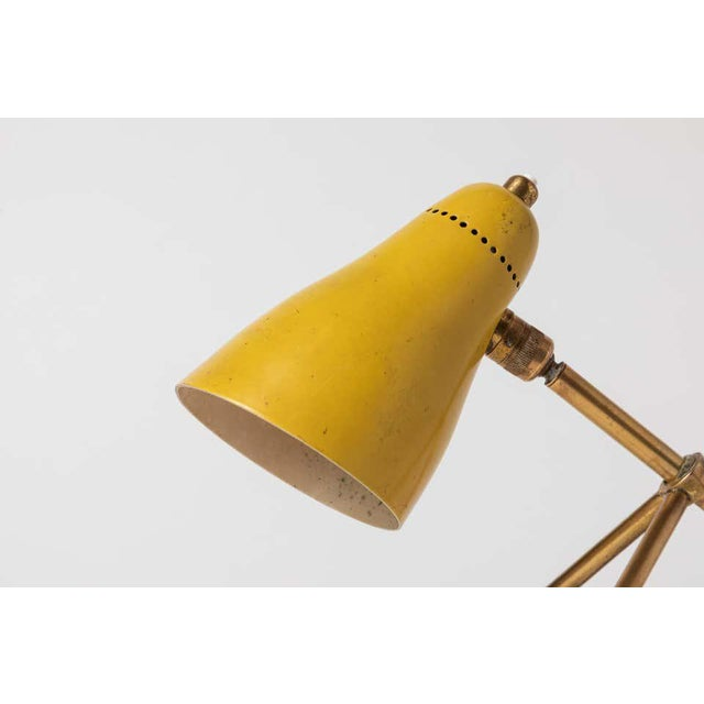 """1950s Giuseppe Ostuni """"Ochetta"""" Yellow Wall or Table Lamp for O-Luce For Sale - Image 10 of 13"""
