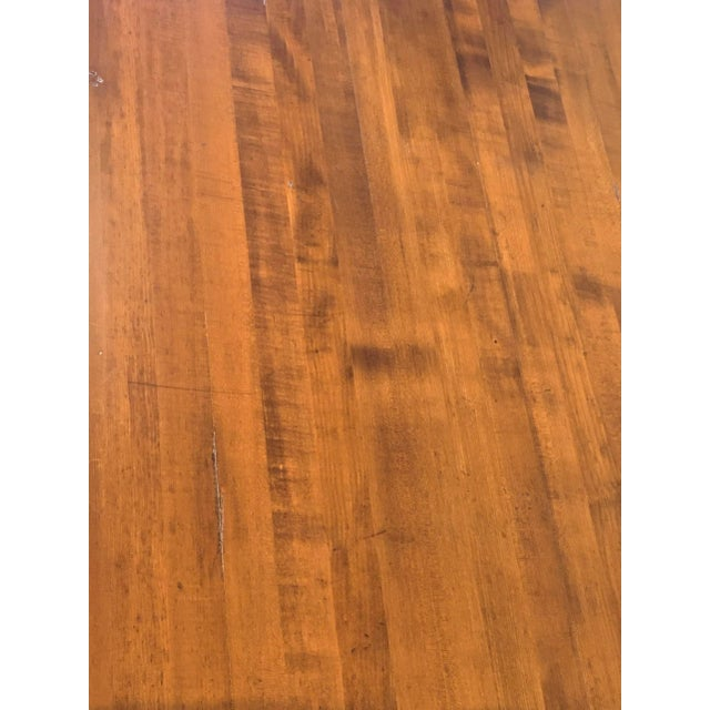 Wood 20th Century French Country Farmhouse Dining Table For Sale - Image 7 of 9