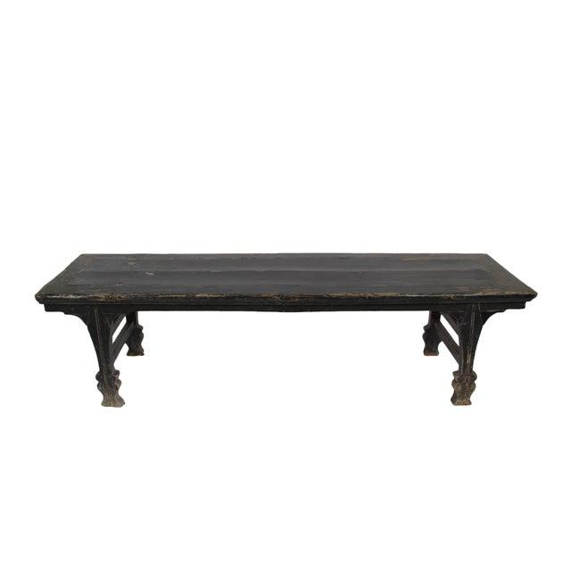 Antique Black Bench - Image 2 of 2
