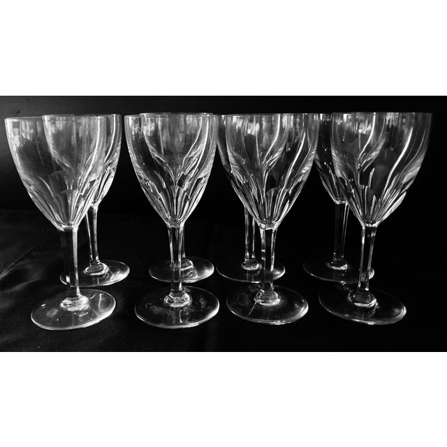 1980s 1980s Baccarat Genova Cut Tall Water Glasses, France - Set of 8 For Sale - Image 5 of 10