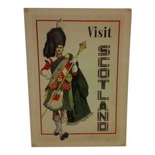 """Vintage """"Visit Scotland"""" Travel Poster For Sale"""
