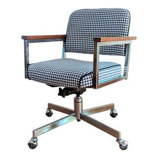 Vintage Modern Chrome Desk Chair For Sale