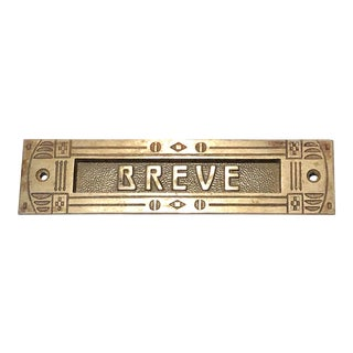 Antique Breve Mail Slot For Sale
