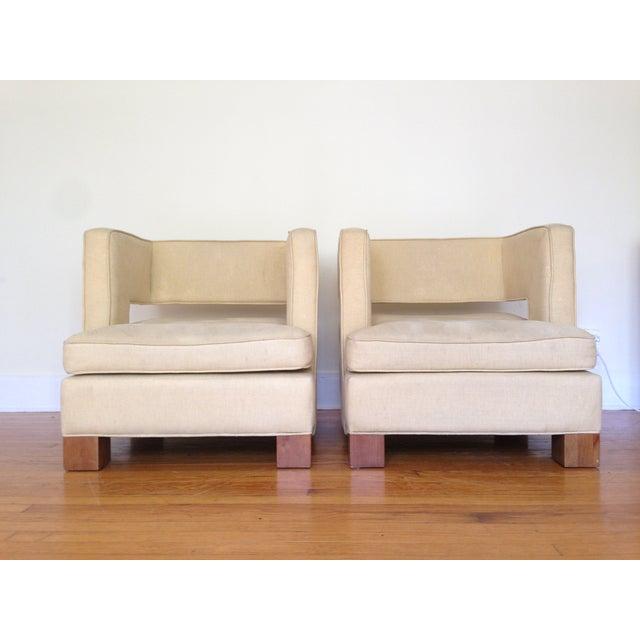 Vintage Club Chairs - Pair - Image 3 of 6