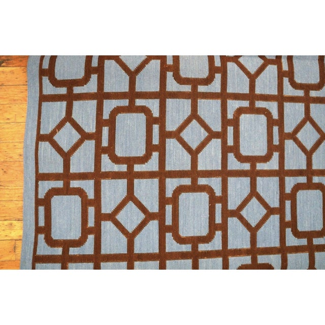"""2010s Modern Needlepoint Wool Rug 9'0"""" X 12'0"""" For Sale - Image 5 of 10"""