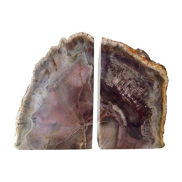 Pink and Chocolate Large Quartz Bookends - A Pair - Image 1 of 7