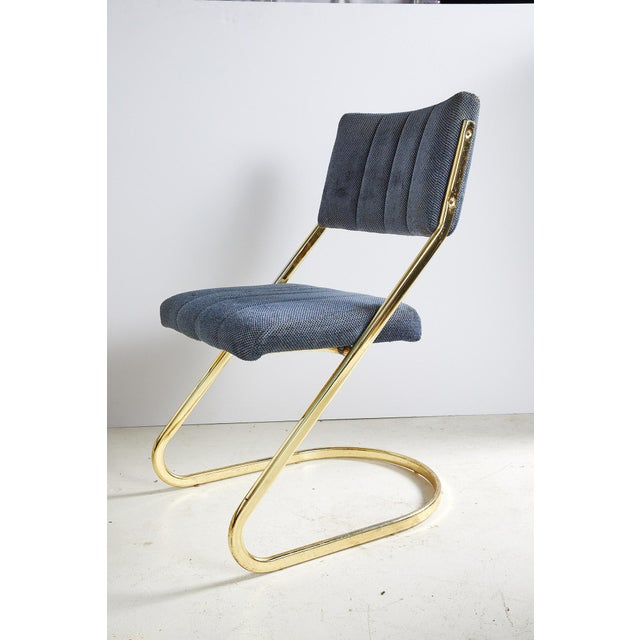 Set of Six Vintage Brass Cantilever Dining Chairs by Douglas Furniture For Sale - Image 9 of 12