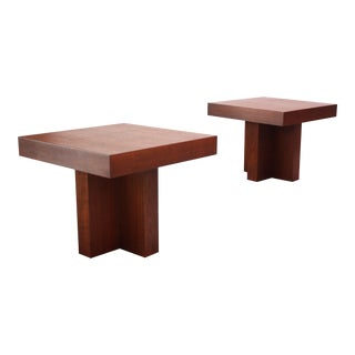 Pair of Milo Baughman 'Cruciform' End Tables For Sale