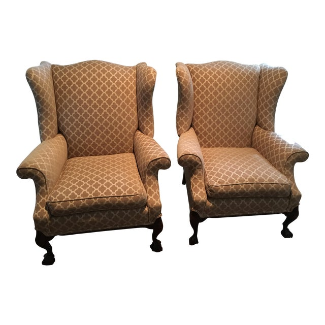 Refurbished Antique Wingback Chairs - A Pair - Refurbished Antique Wingback Chairs - A Pair Chairish