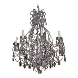 Silver Crystal Beaded Chandelier