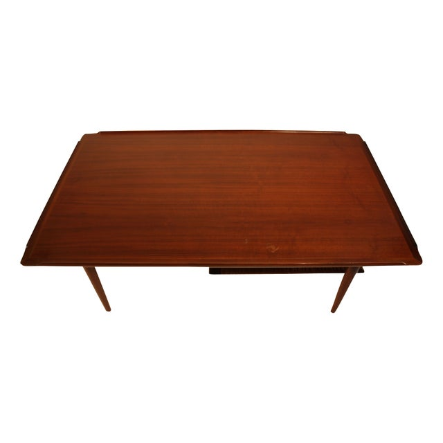 1960 Teak Coffee Table with Rack by Selig of Denma - Image 2 of 4