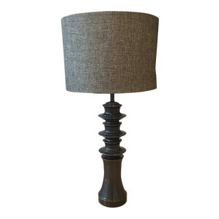Harp and Finial Mackay Collection Chemical Madison Bronze Table Lamp For Sale