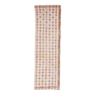 Vintage Cotton Kilim Runner For Sale