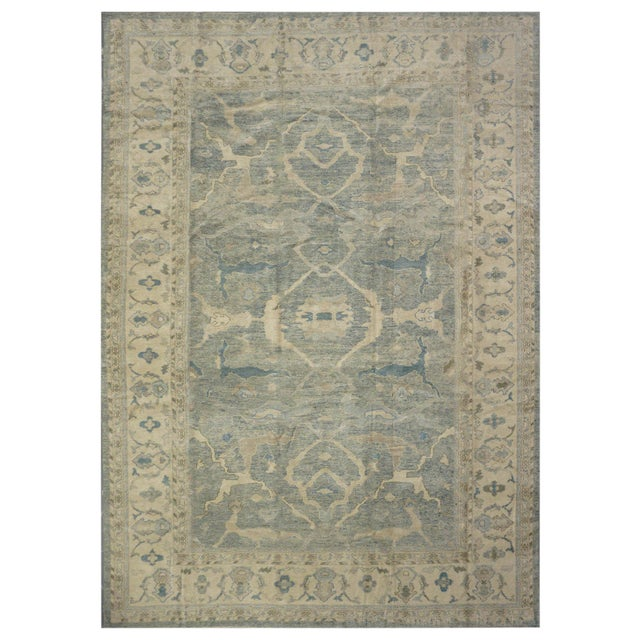 New Turkish Oushak Rug - 10'2''x15'6'' For Sale
