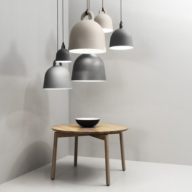 Scandinavian Tan Steel Bell Pendant Lamp - Image 2 of 2