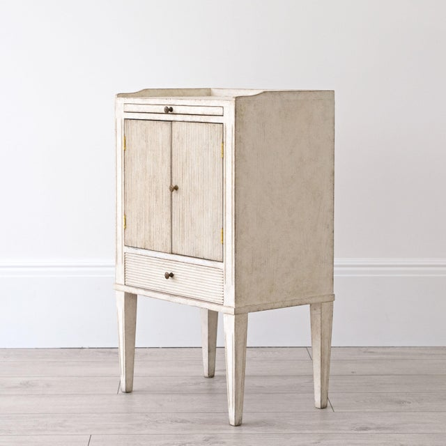 Gray Pair of Lotta Gustavian Style Nightstands For Sale - Image 8 of 13