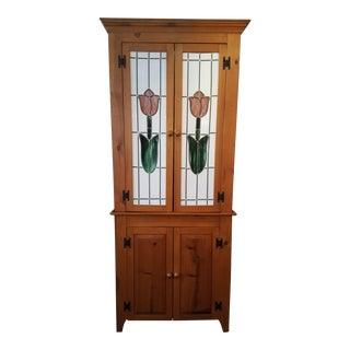 20th Century Cottage Tulip Armoire For Sale
