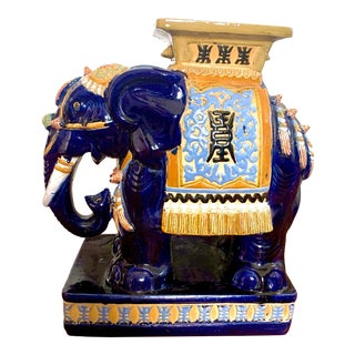 20th Century Asian Terra Cotta Elephant Garden Stool For Sale