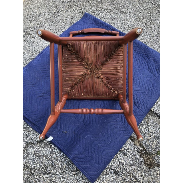 Mid 20th Century Vintage Mid-Century L. Hitchcock Turtle Back Chair For Sale - Image 5 of 7