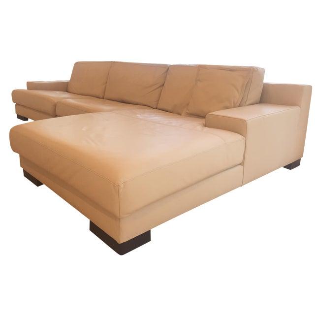Ver Design Cream Leather Armonia Sofa - Image 1 of 7